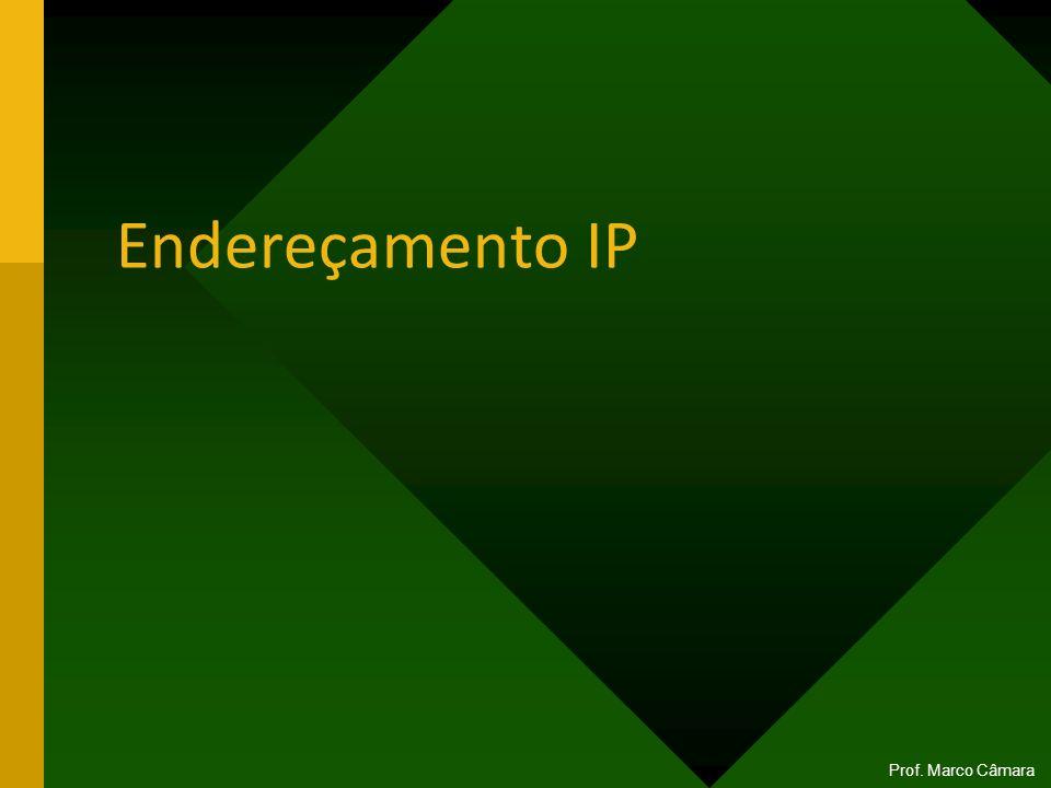 Endereçamento IP Prof. Marco Câmara