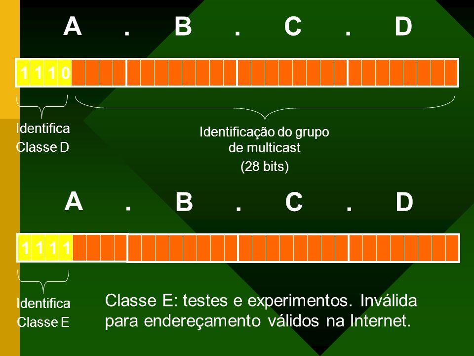 Identificação do grupo de multicast