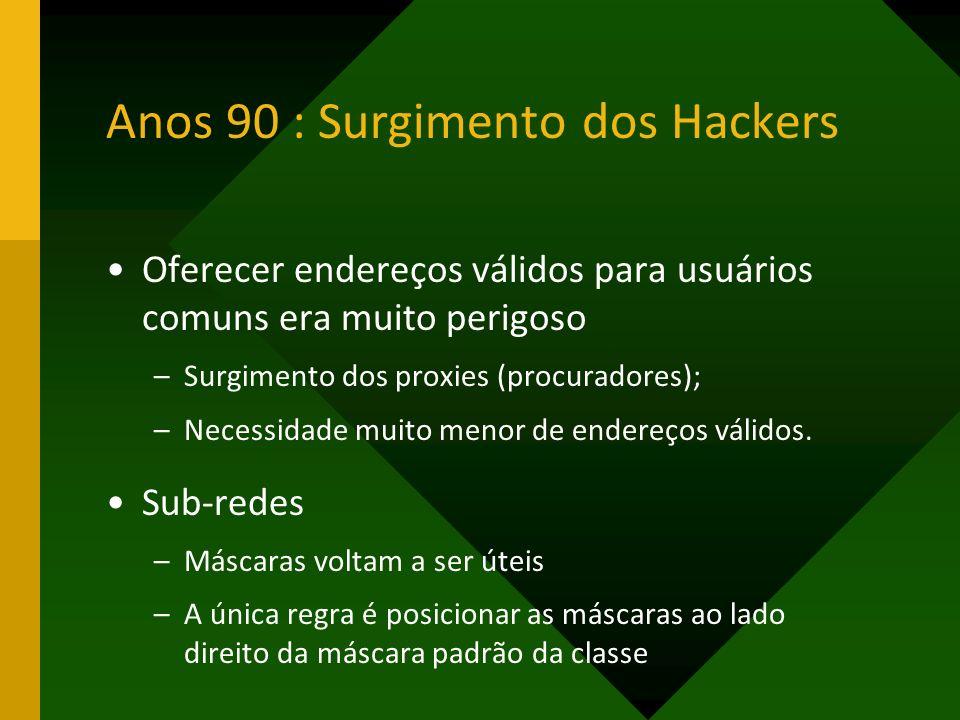 Anos 90 : Surgimento dos Hackers