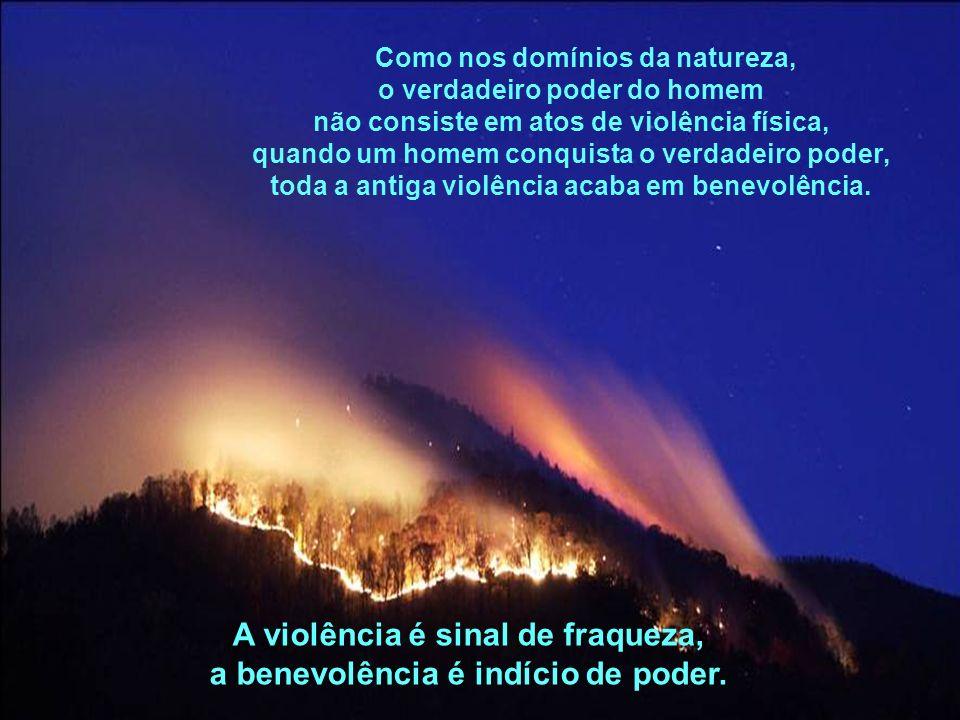 A violência é sinal de fraqueza,