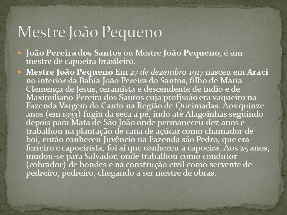 Mestre João Pequeno João Pereira dos Santos ou Mestre João Pequeno, é um mestre de capoeira brasileiro.