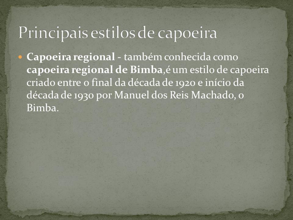 Principais estilos de capoeira