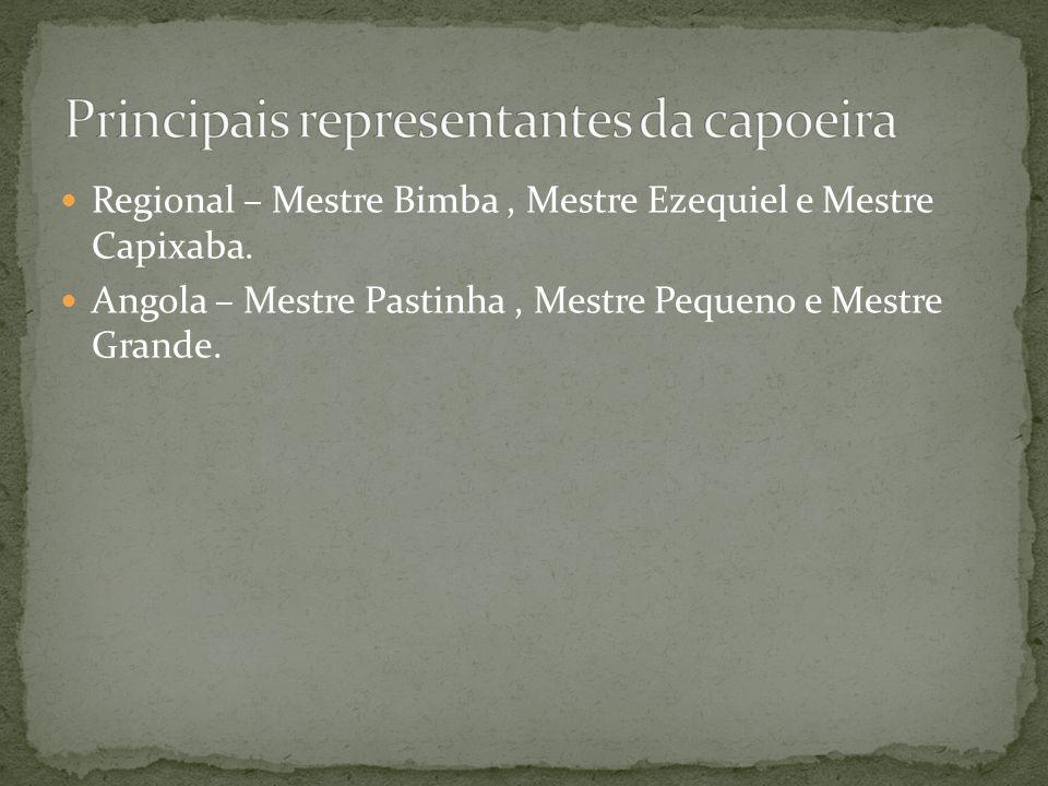 Principais representantes da capoeira