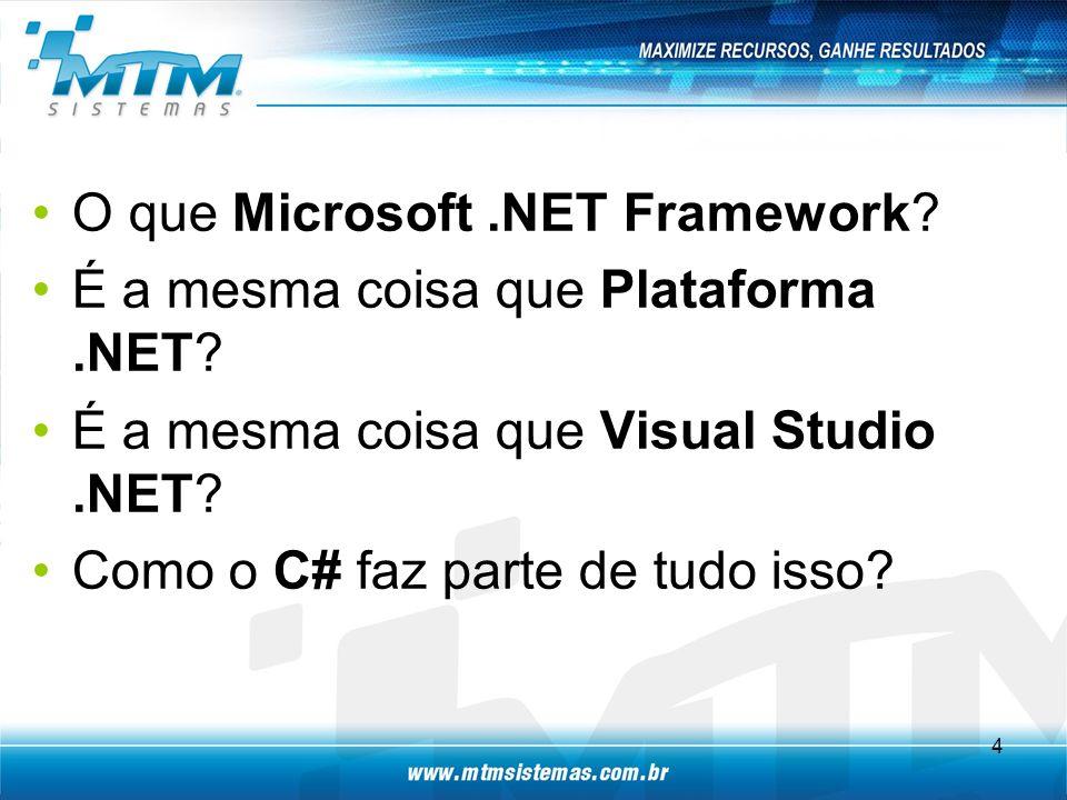 O que Microsoft .NET Framework