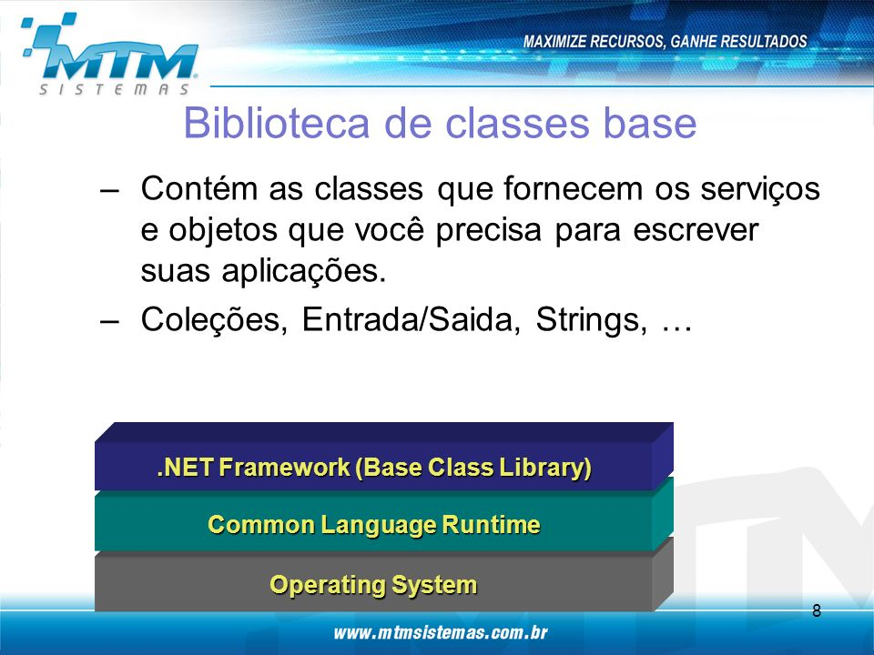 Biblioteca de classes base