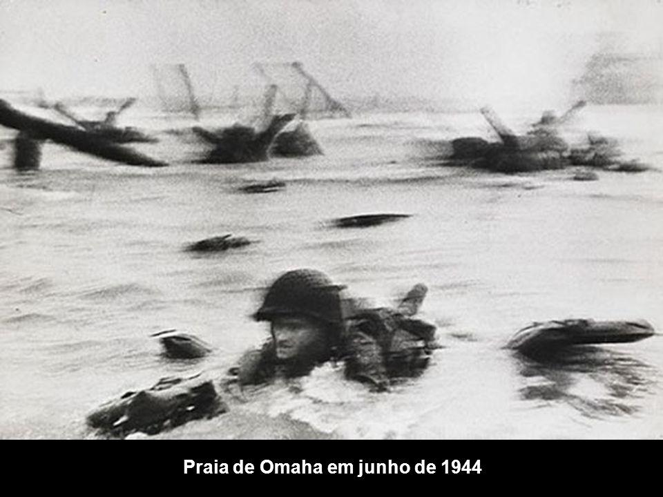 Praia de Omaha em junho de 1944