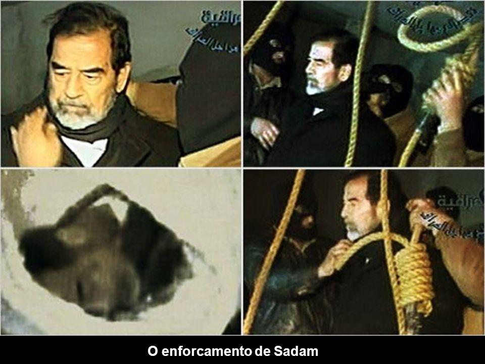 O enforcamento de Sadam