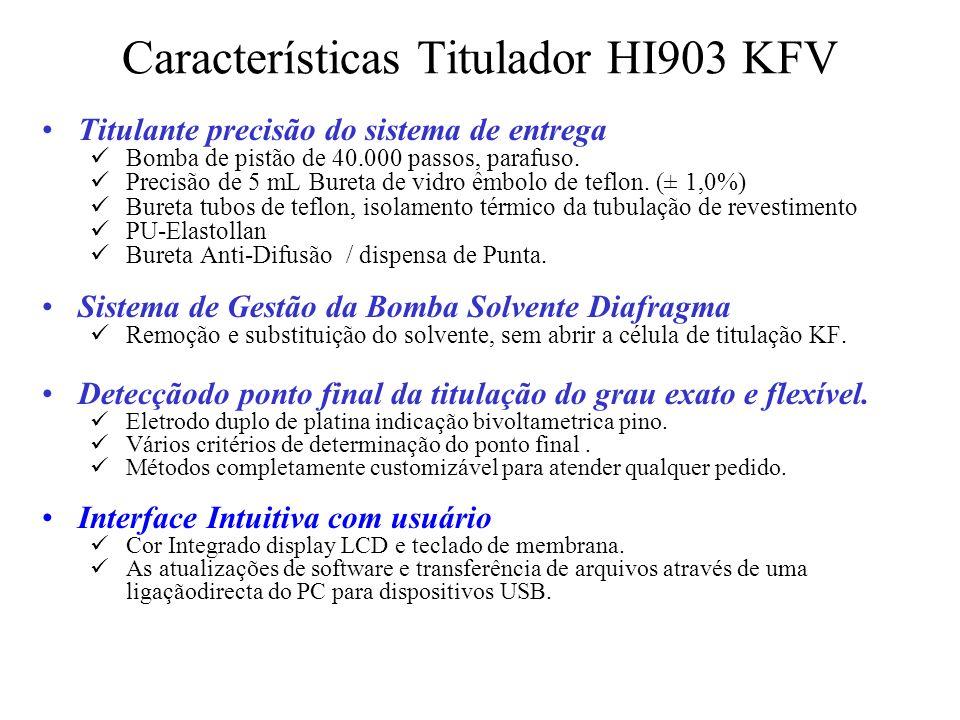 Características Titulador HI903 KFV