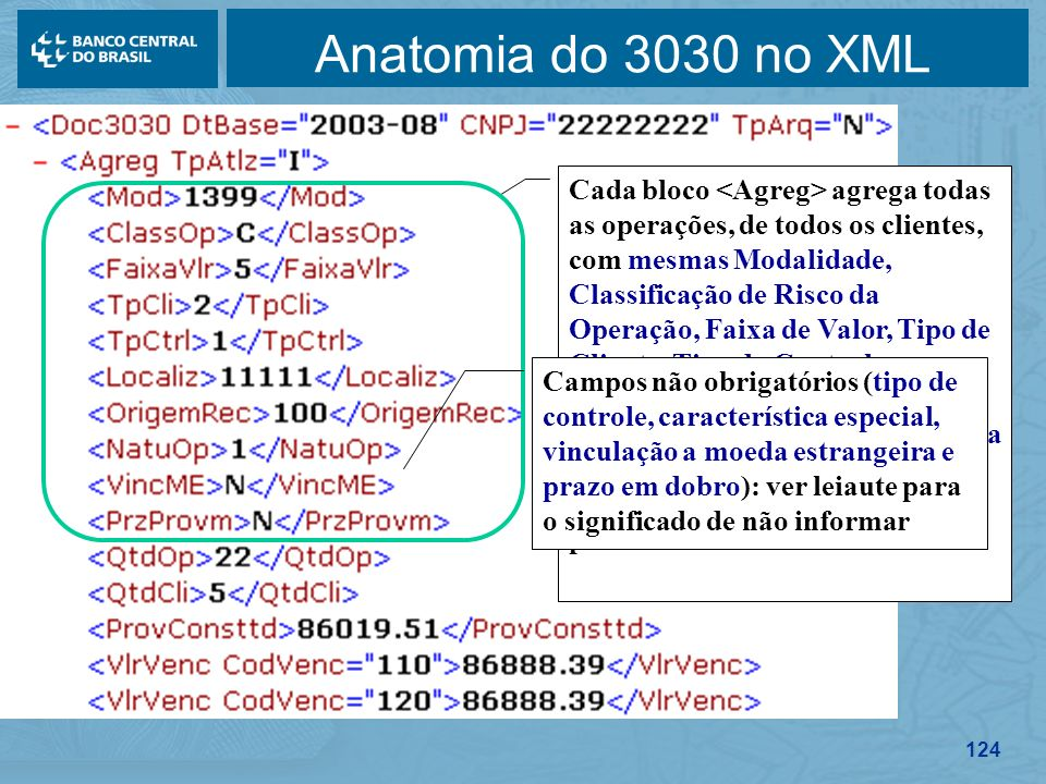 Anatomia do 3030 no XML