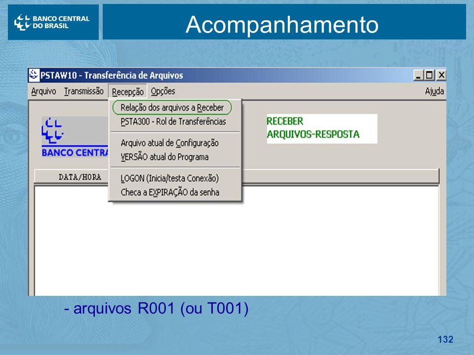 Acompanhamento - arquivos R001 (ou T001)