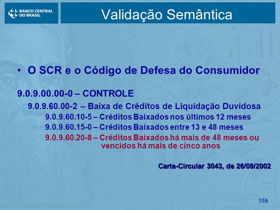 Validação Semântica O SCR e o Código de Defesa do Consumidor