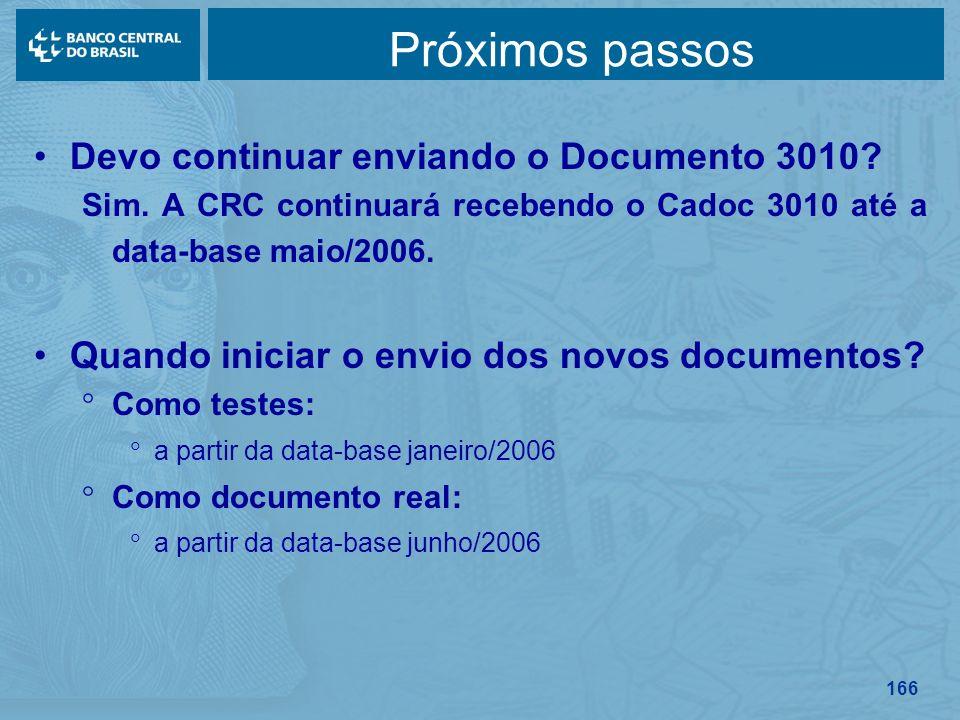 Próximos passos Devo continuar enviando o Documento 3010