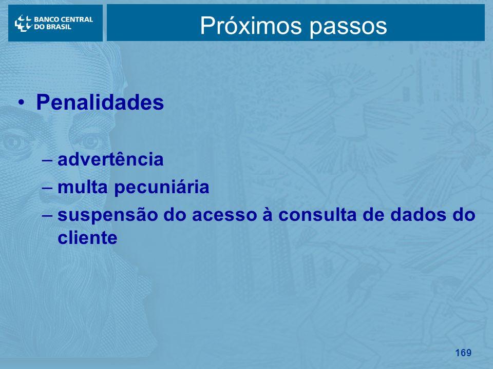 Próximos passos Penalidades advertência multa pecuniária