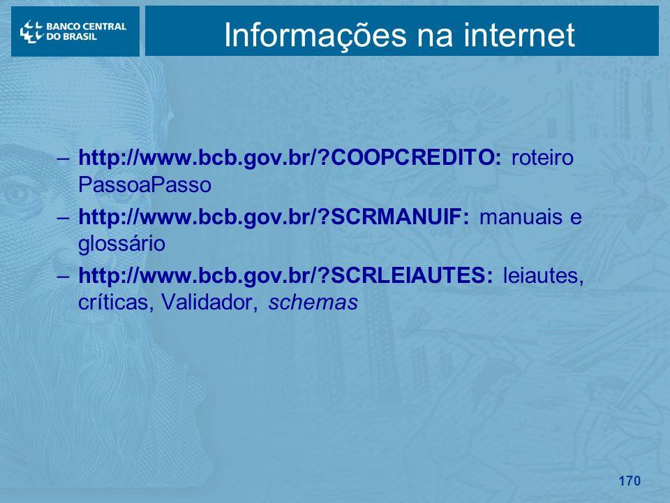 Informações na internet