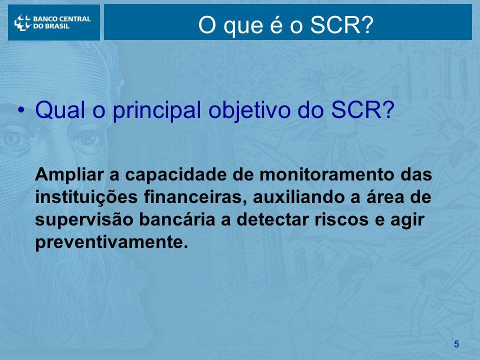 Qual o principal objetivo do SCR