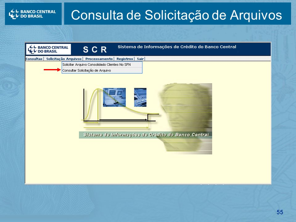 Consulta de Solicitação de Arquivos