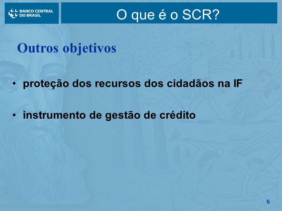 O que é o SCR Outros objetivos