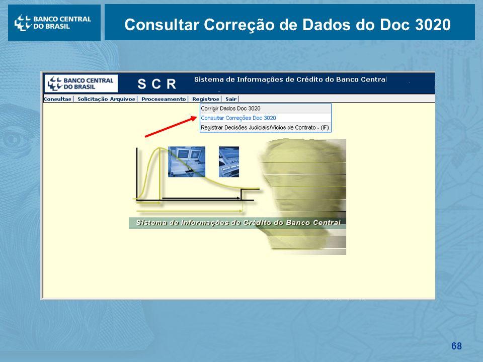 Consultar Correção de Dados do Doc 3020