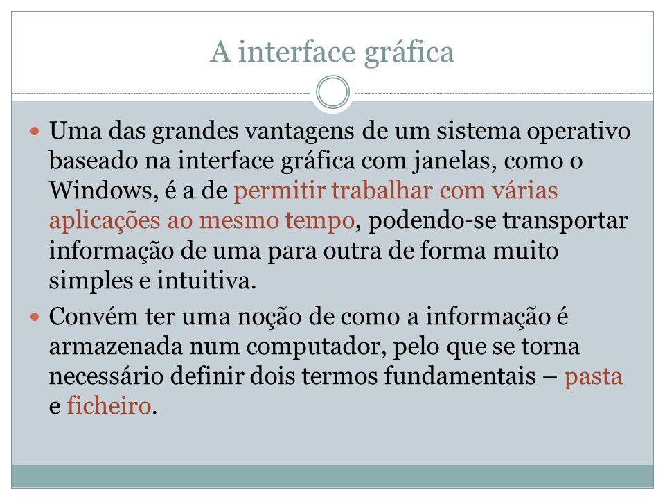 A interface gráfica