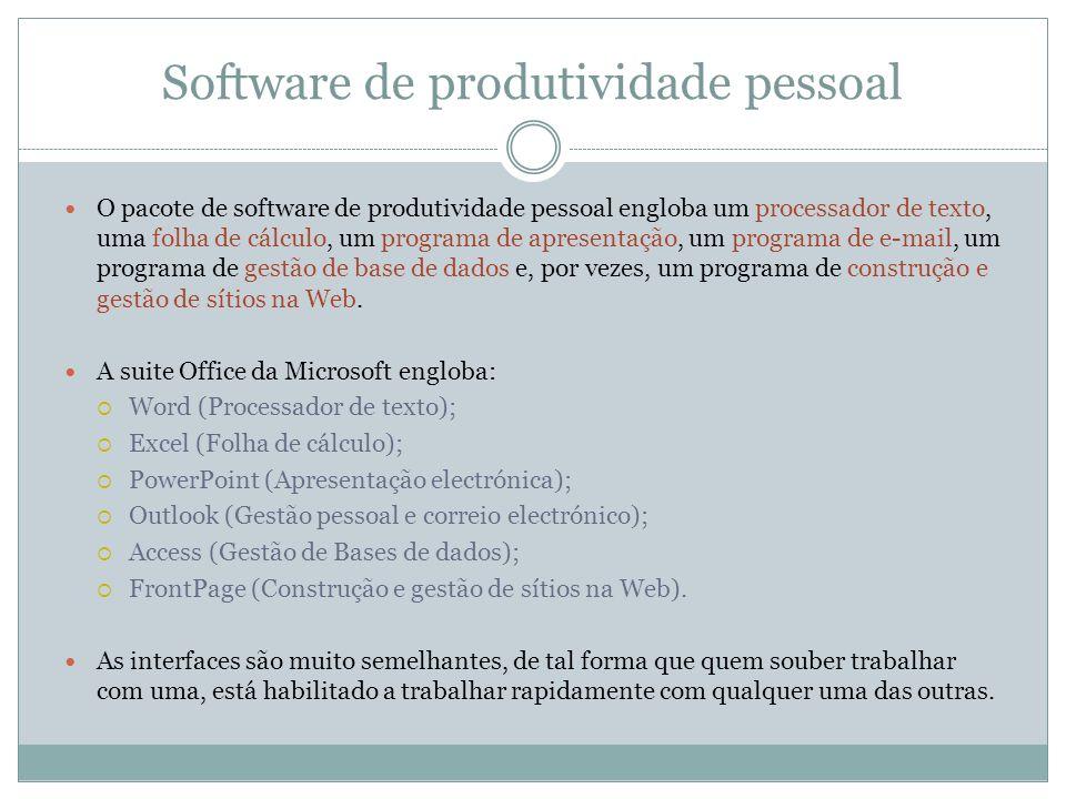 Software de produtividade pessoal