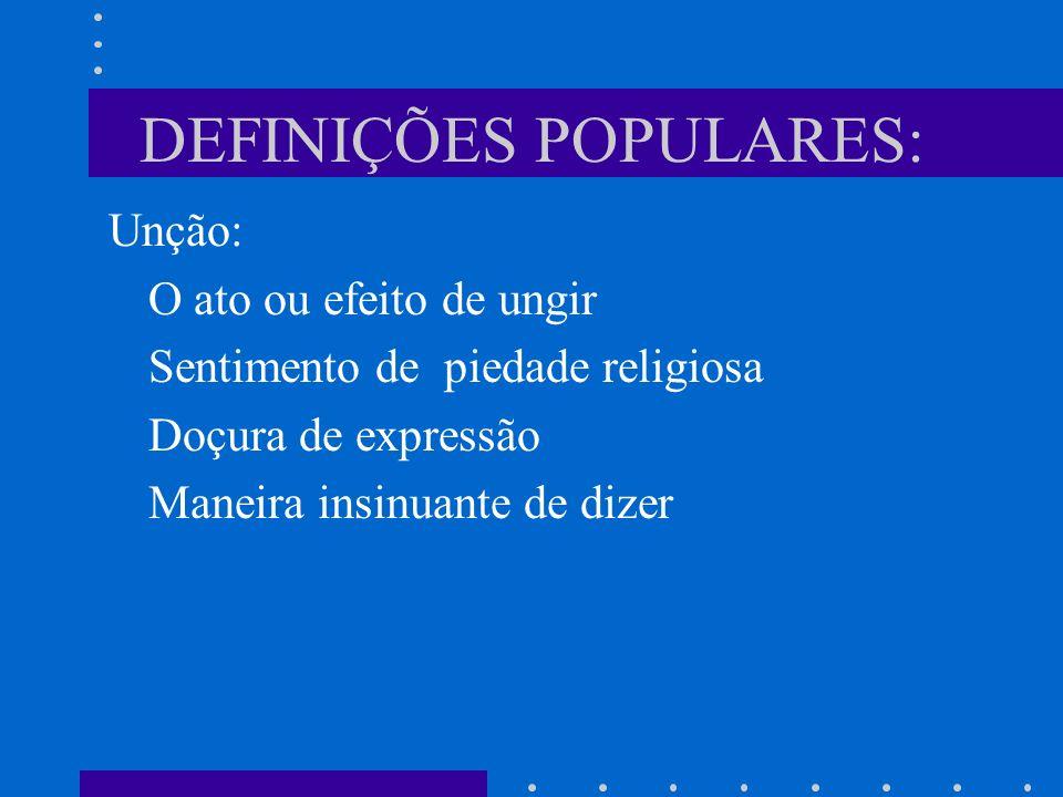 DEFINIÇÕES POPULARES: