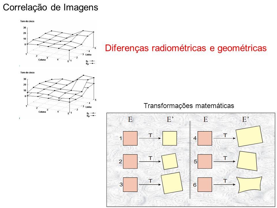 Diferenças radiométricas e geométricas
