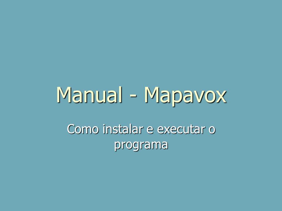 Como instalar e executar o programa