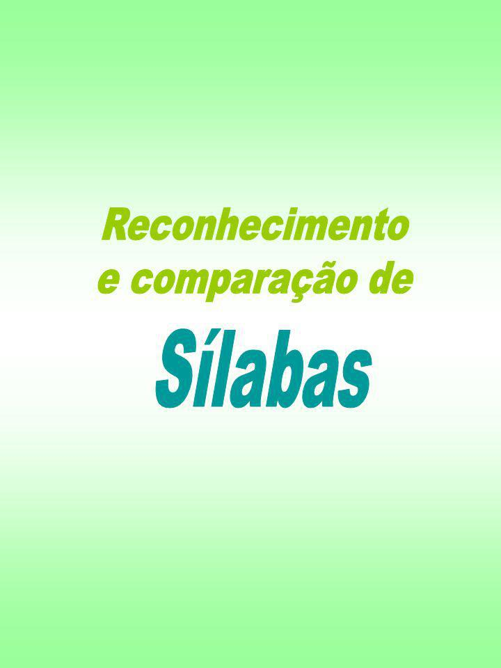 Reconhecimento e comparação de Sílabas