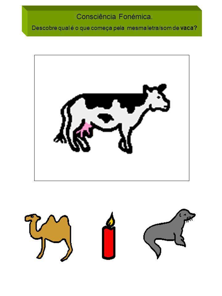 Descobre qual é o que começa pela mesma letra/som de vaca