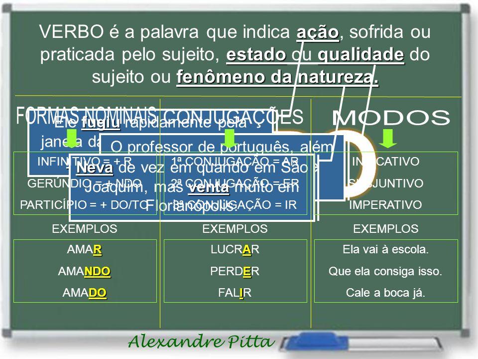 O professor de português, além de inteligente, está sempre bonito.