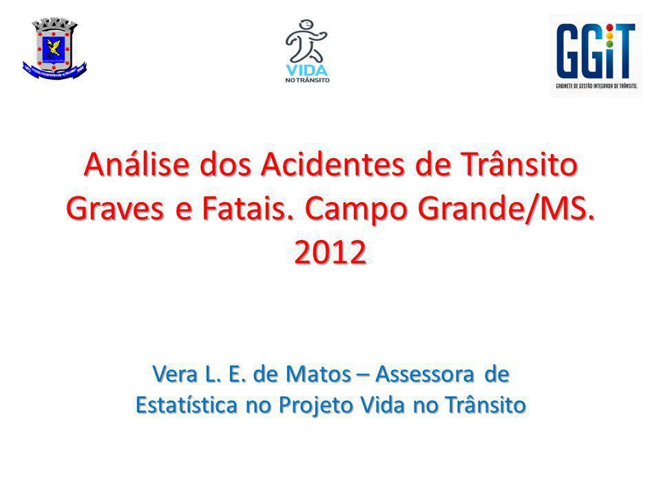 Análise dos Acidentes de Trânsito Graves e Fatais. Campo Grande/MS