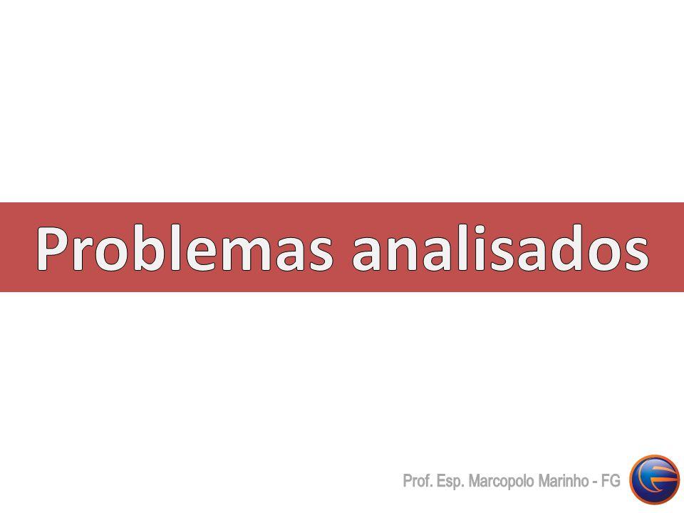 Problemas analisados Prof. Esp. Marcopolo Marinho - FG