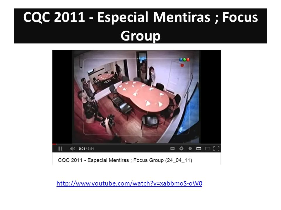 CQC 2011 - Especial Mentiras ; Focus Group