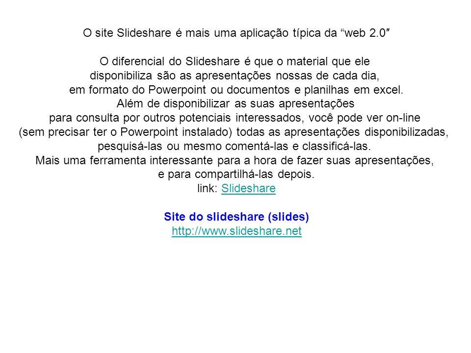 Site do slideshare (slides)