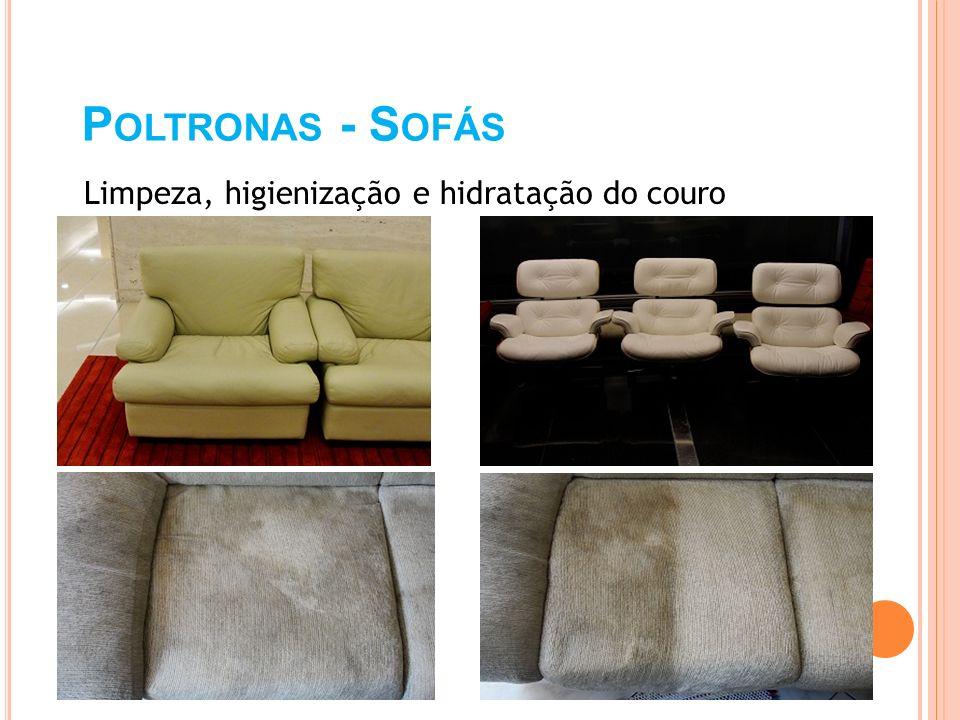Poltronas - Sofás Limpeza, higienização e hidratação do couro