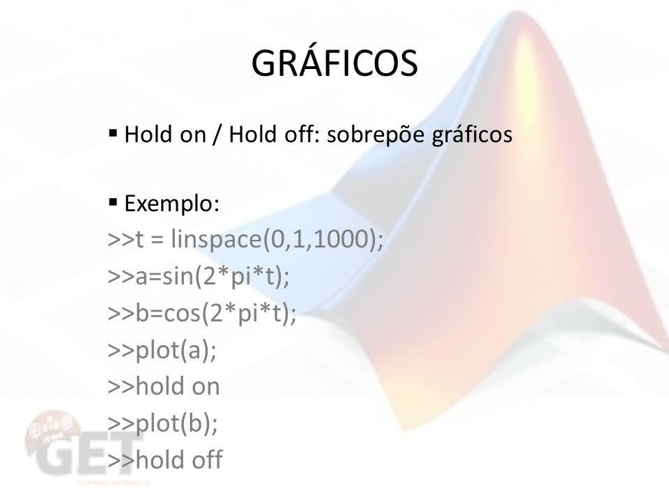 GRÁFICOS >>t = linspace(0,1,1000); >>a=sin(2*pi*t);