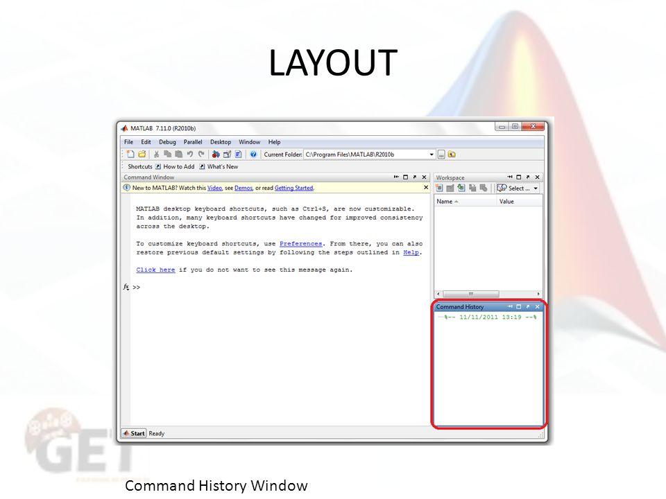 LAYOUT Command History Window