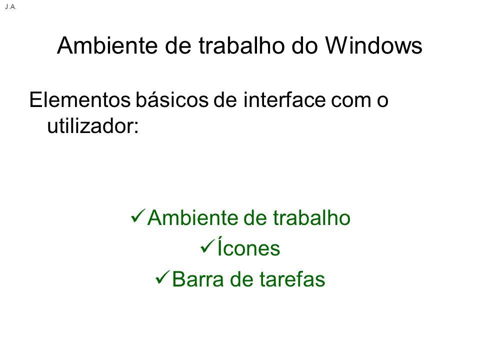 Ambiente de trabalho do Windows