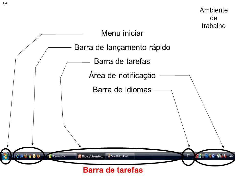 Barra de lançamento rápido