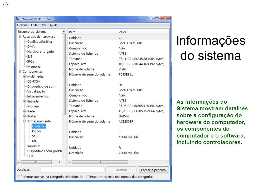 Informações do sistema