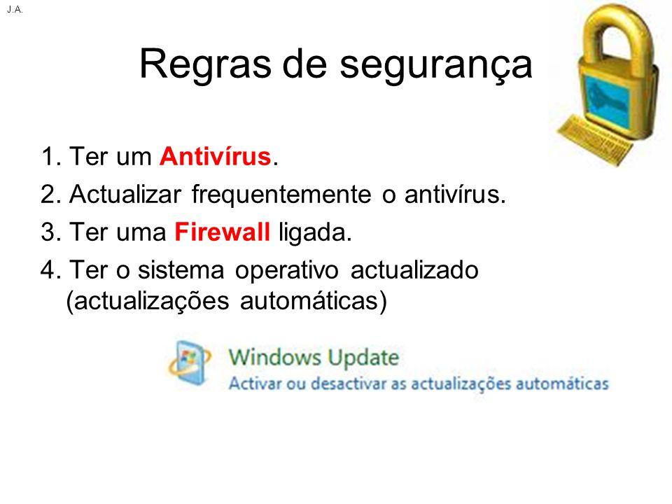Regras de segurança 1. Ter um Antivírus.
