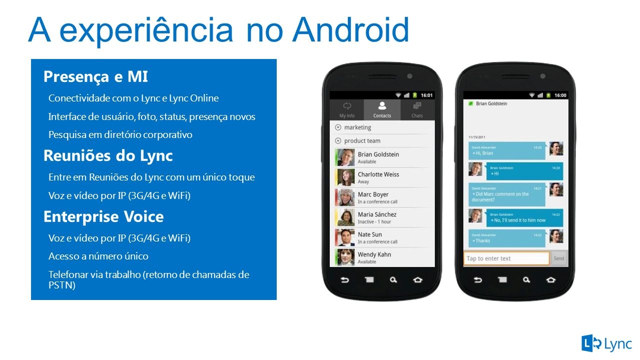 A experiência no Android
