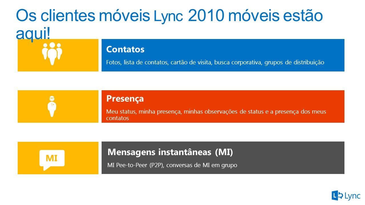 Os clientes móveis Lync 2010 móveis estão aqui!