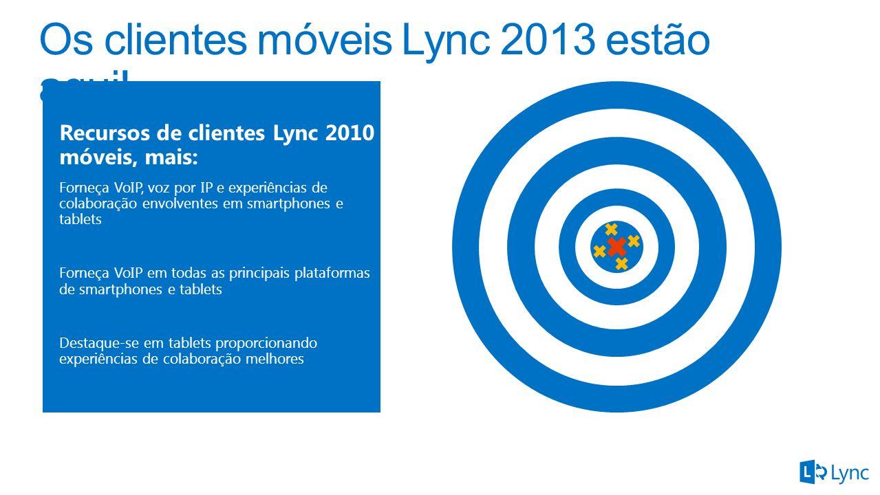 Os clientes móveis Lync 2013 estão aqui!
