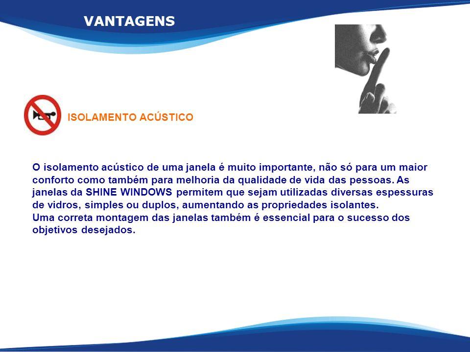 VANTAGENS ISOLAMENTO ACÚSTICO