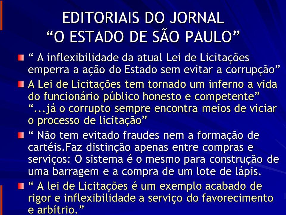 EDITORIAIS DO JORNAL O ESTADO DE SÃO PAULO