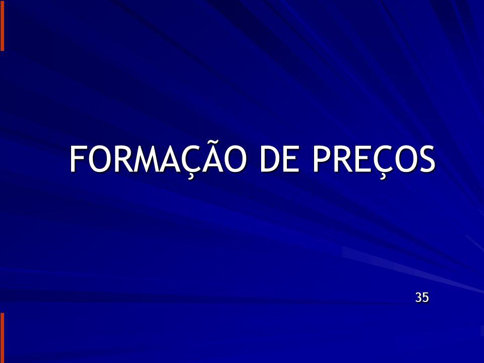 FORMAÇÃO DE PREÇOS 35