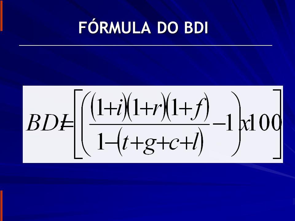 FÓRMULA DO BDI