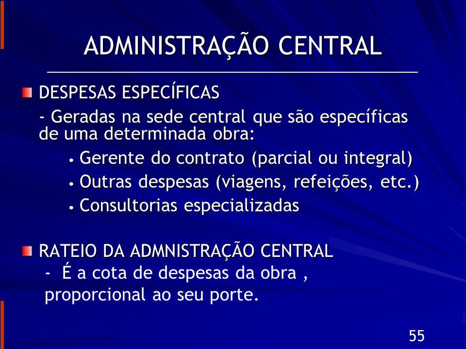 ADMINISTRAÇÃO CENTRAL