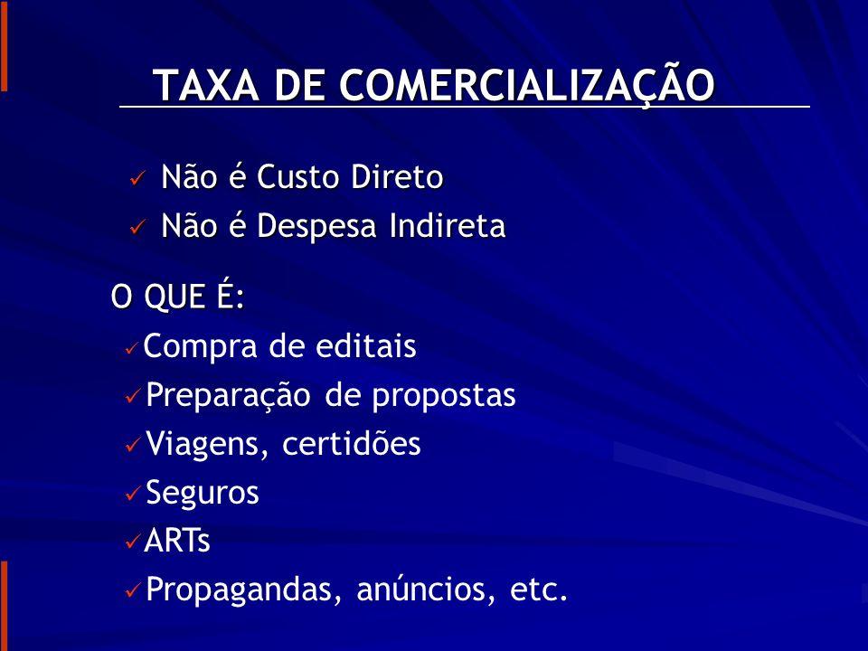 TAXA DE COMERCIALIZAÇÃO
